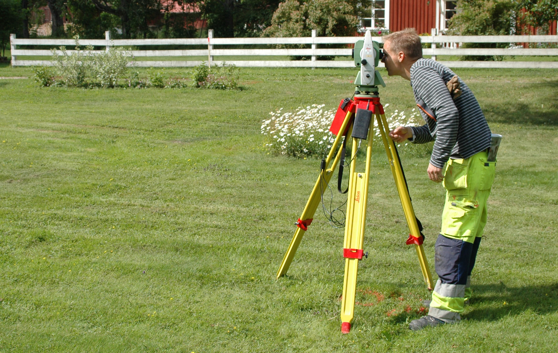 Mätning med totalstation.